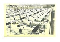 Linen Post Card Kansas City WW2 Airplane Assembly Clean Unposted