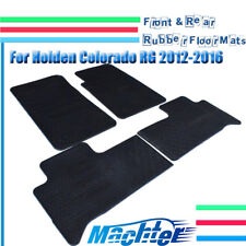 Front & Rear Rubber Floor Mats For Holden Colorado RG 7 2012 - 2016 Heavy Duty