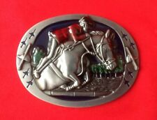 EQUESTRIAN HORSE RIDER SHOW JUMPING RACING STALLION COLT PONY CLUB BELT BUCKLE