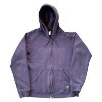 Carhartt Purple Full Zip Lightweight Spell Out Hoodie Sweatshirt Women's Large