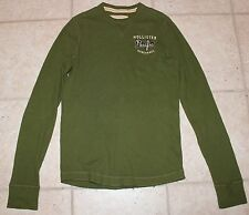 Hollister Mens Medium Long Sleeve Green Thermo Style Shirt
