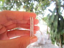 2.40 Carat Diamond White Gold Loop Earrings 14k codeEx98 sepvergara