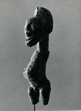 Art Brut Primitif Sculpture Totem Masque Photo P. Joly V. Cardot c. 1970  ART 83