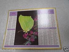 ALMANACH PTT calendrier des postes 1975 oberthur papillon lamartine dept 54 *
