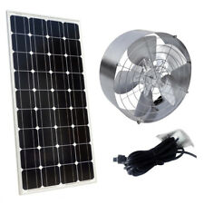 65W Solar Powered Attic Ventilator Roof Vent Fan + 100W 12V Mono Solar Panel MC4