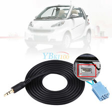 Auto Car 3.5mm AUX Audio Input Adapter Cable For Benz Smart 450 MP3 Player DH