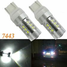 2Pcs 80W 7443 7440 7444 LED Backup Reverse Lights Bulbs Super Bright 6000K White