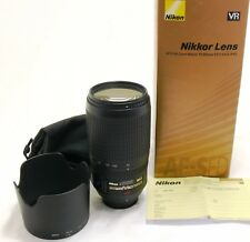 Nikon 70-300mm f/4.5-5.6 G Zoom-Nikkor AF-S VR IF-ED lens boxed MINT #29657