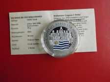 *Cook Island 1 Dollar 2001 Silber PP(500 -ca20g)*Fußball WM/Uruguay(Schu50)