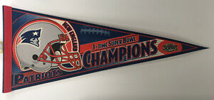 NEW ENGLAND PATRIOTS PENNANT SUPER BOWL XXXIX 3 TIME CHAMPS NFL Wincraft