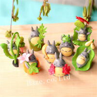 8pcs/Set Anime My Neighbor Totoro PVC Mini Figure Maquette Jouet