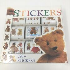 Vintage Teddy Bears Sticker Gift Box 290 Stickers 1991 Scrapbooking New NOS