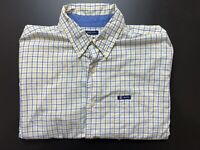 Chaps by Ralph Lauren Mens Shirt Size L Long Sleeve Button Up Checked Print
