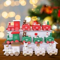Wood Christmas Train Santa Table Ornament Xmas Kid Gift Home Decor New Year 2020