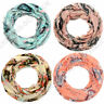 Halstuch leichtes Tuch Loopschal Damen Mädels Blumen Print Muster bunt Schal neu