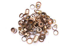 100+ Brass Rings ferule collars - various sections /shapes Pipe making
