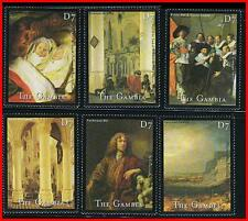 GAMBIA 2000 DUTCH PAINTINGS by DE BRAY, HALS, SEGERS, etc.  MNH  (K-J18)