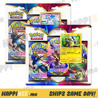 Pokemon SWORD & SHIELD Blister Booster Packs🍯Collectible TCG Trading Card FOIL