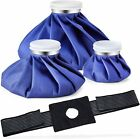 Ice Bag Packs for Injuries / Pain Relief Rwith a Adjustable Wrap, Ohuhu 3 Packs