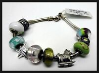 "Chamilia 7.5"" Sterling Silver Bracelet Plain New With Tag / With Charms as Bonus"