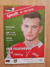 Programme / Programma AZ Alkmaar v NAC Breda 18-03-2012