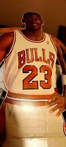 1987 LIFE SIZE MICHAEL JORDAN MEASURE UP CARDBOARD CUT OUT *RARE* Chicago Bulls