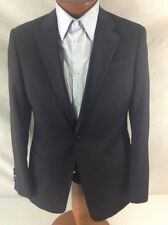 "New Armani Collezioni 'G Line' 1-BT Black Wool Tuxedo Suit US 38S/W32"" EU48C."