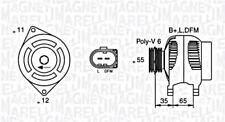 Alternator Magneti Marelli Fits ALFA ROMEO 159 Brera Spider 939 3.2L 2003-
