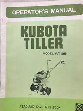Kubota Tiller Model AT25 Operator's Manual