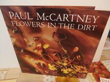 """Paul McCartney""""flowers in the dirt"""" cd + livret + poch/dble 28X28 cm= rare promo"""