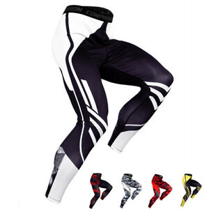 Men Compression Quick dry Pants Baselayer Basketball Fitness Running Tights Camo