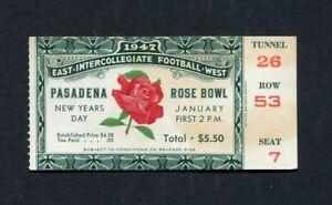 1947 Rose Bowl Game ticket stub Illinois Fighting Illini UCLA Bruins Pasadena