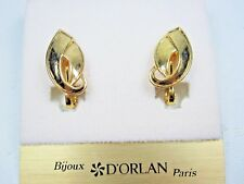 Lead and Nickel Free 1392 D'Orlan Gold Plated Pierced Earrings -