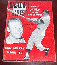 Baseball Digest July 1956 Mickey Mantle
