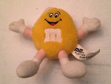 "Yellow M&M Plush Toy Fun Friend 1994 5"" w/ loop to hang"
