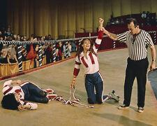 Kansas City Bomber Raquel Welch winning the roller derby match 8x10 Photo