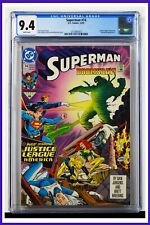 Superman #74 CGC Graded 9.4 DC December 1992 White Pages Comic Book.