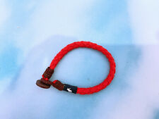Abercrombie & Fitch red woven friendship bracelet ~ NEW ~ TOKYO