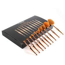 10 PCS Professional Makeup Brush Set Foundation Blusher Cosmetic Make-Up Brushes