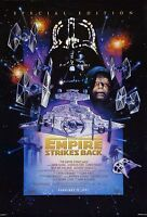 STAR WARS EMPIRE STRIKES BACK Movie Poster  Return Jedi Yoda Vader Sith