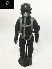 "1/6 ~ 1/5 Scale 12"" Tall Modern Jet Fighter Pilot Figure (Black)"
