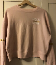 Hollister Size S, Women's Pink Sweatshirt with Gold band