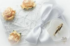 ANELLO Nuziale cuscino, di fidanzamento CUSTODIA, Arancione Rose P5