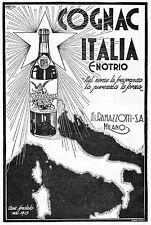 PUBBLICITA'  COGNAC ITALIA ENOTRIO F.LLI RAMAZZOTTI BOTTIGLIA VITTORIA ALATA 34