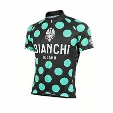Bianchi Polka Dot Celest Pride Short Sleeve Cycling Jersey | Made in Italy