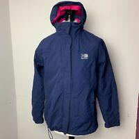 Karrimor Womens Walking Jacket Size UK 12 Blue & Pink Lightweight Raincoat VGC