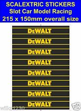 Slot car / Scalextric stickers Model Race DeWALT Logo Lego self adhesive vinyl