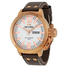 TW Steel CEO Canteen 50 MM White Dial Mens Watch CE1018