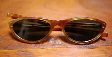 Vintage 50s 60s French Mod Cat Eye Faux Tortoise Shell Sunglasses France