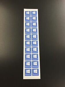 **BUY ONE GET ONE FREE** 50no Windows 10 Stickers Decal Logo (You Get 100no)